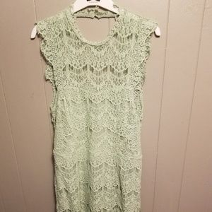 Free people lace crochet dress